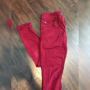 Maroon express jeggings, size 2